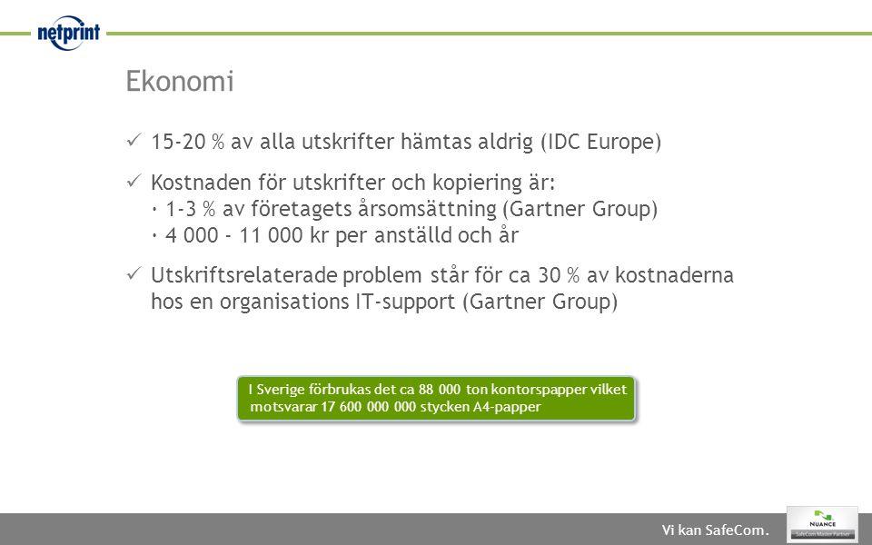 Ekonomi 15-20 % av alla utskrifter hämtas aldrig (IDC Europe)