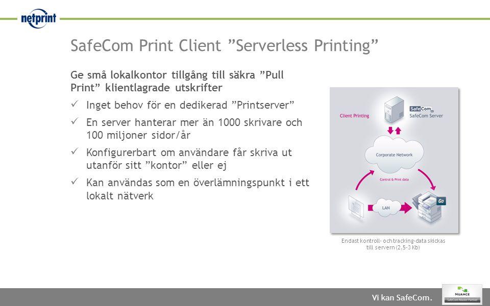 SafeCom Print Client Serverless Printing