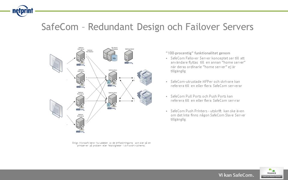 SafeCom – Redundant Design och Failover Servers