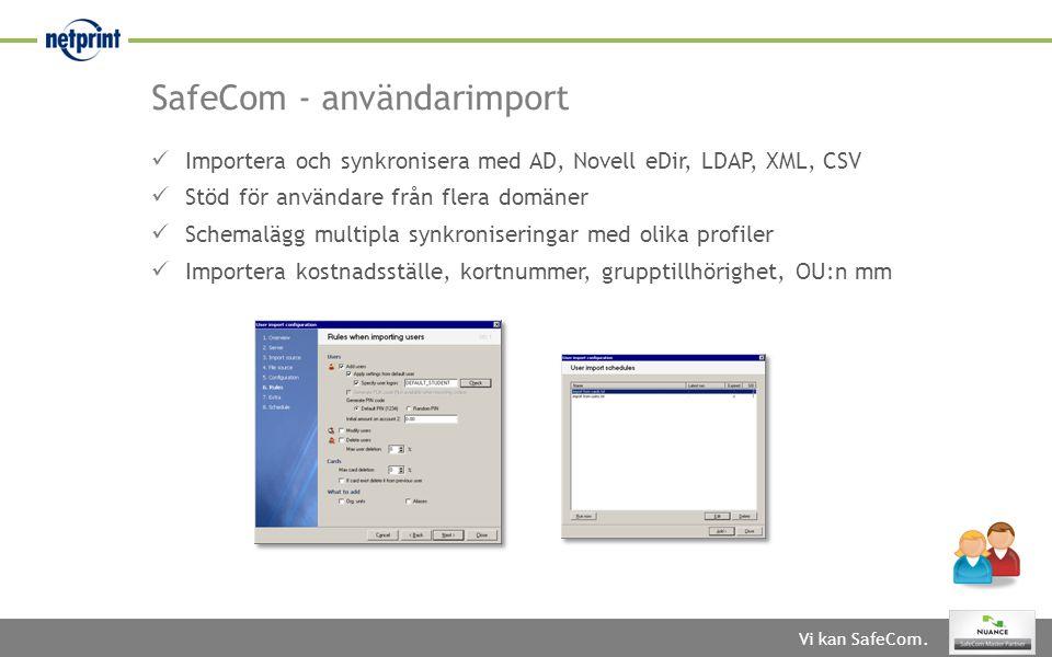 SafeCom - användarimport