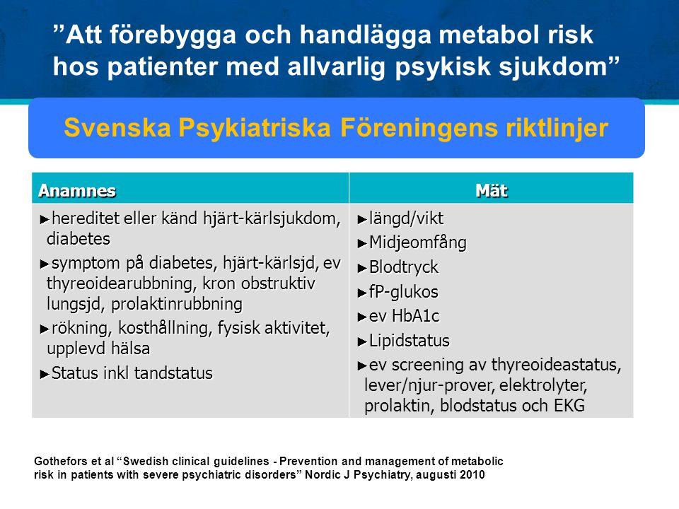 Svenska Psykiatriska Föreningens riktlinjer