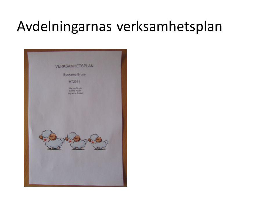 Avdelningarnas verksamhetsplan