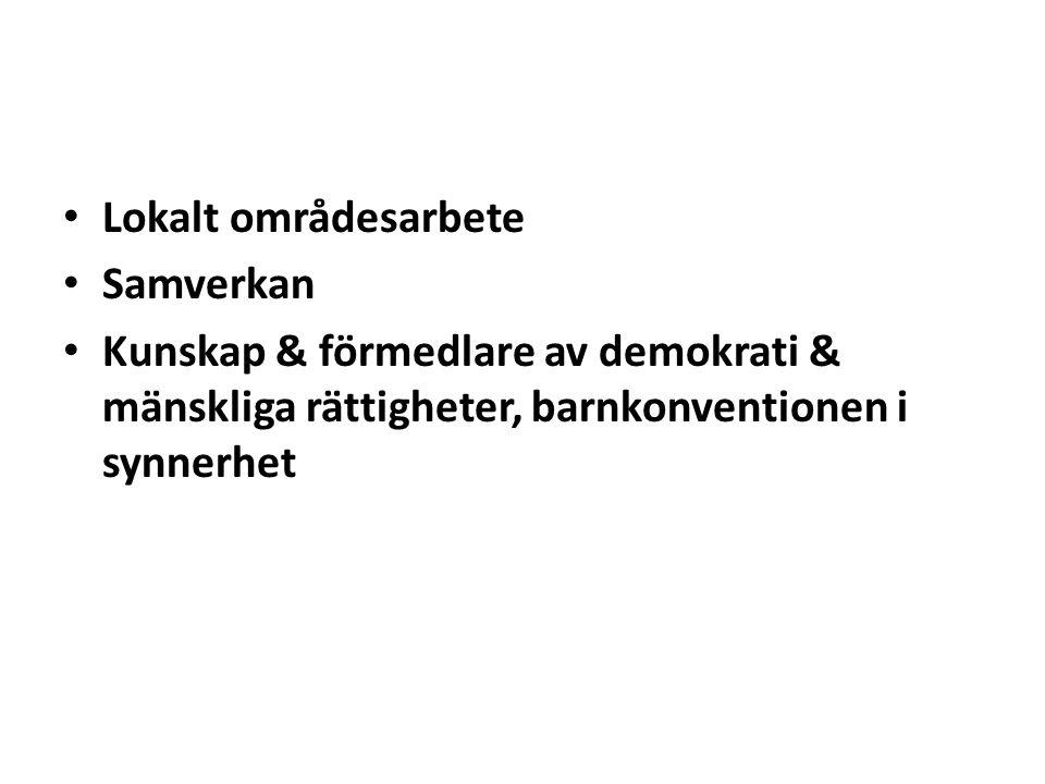 Lokalt områdesarbete Samverkan.