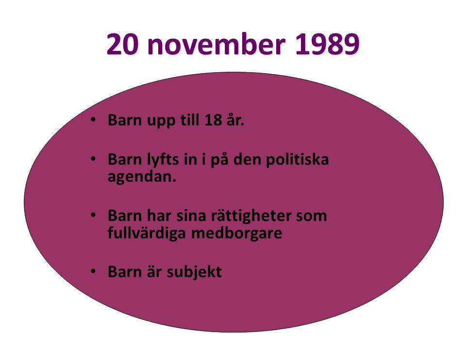 20 november 1989 Barn upp till 18 år.