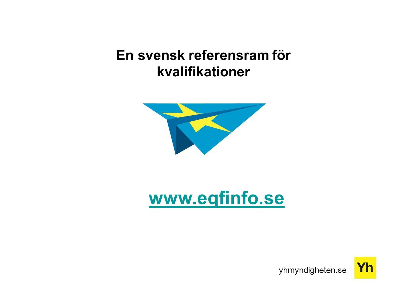En svensk referensram för kvalifikationer