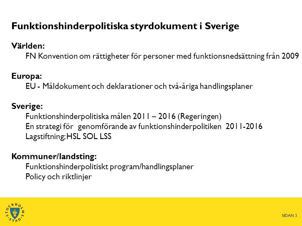 Funktionshinderpolitiska styrdokument i Sverige