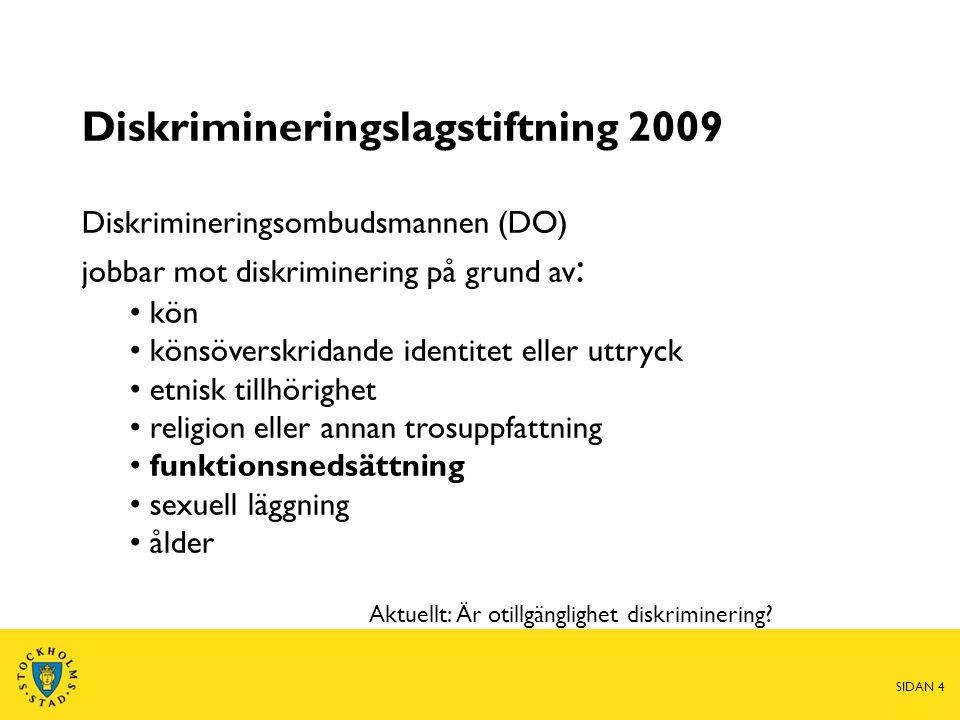 Diskrimineringslagstiftning 2009