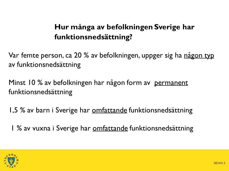 Hur många av befolkningen Sverige har funktionsnedsättning