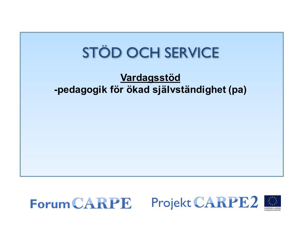 -pedagogik för ökad självständighet (pa)