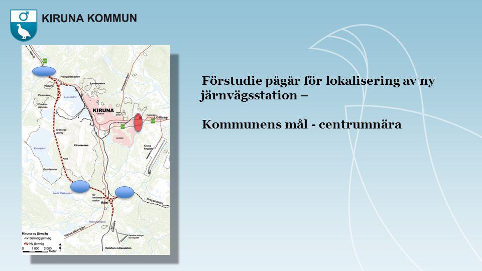 Förstudie pågår för lokalisering av ny järnvägsstation –