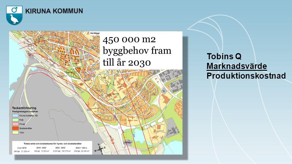 450 000 m2 byggbehov fram till år 2030