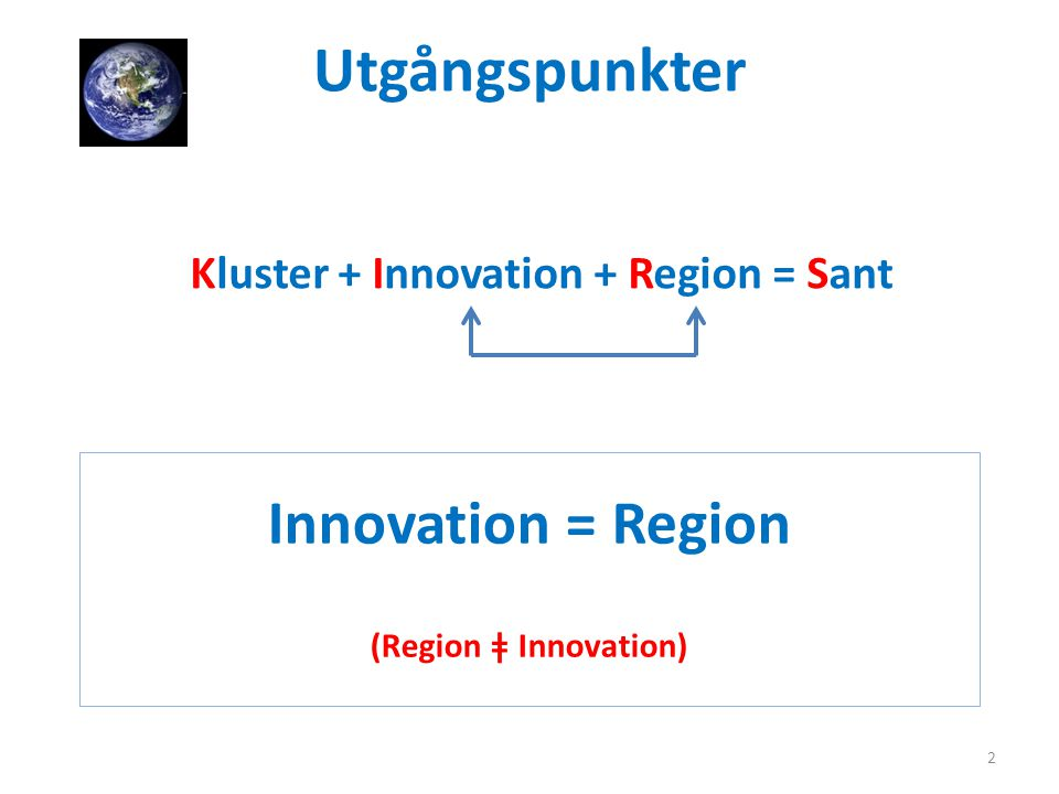 Innovation = Region (Region ǂ Innovation)