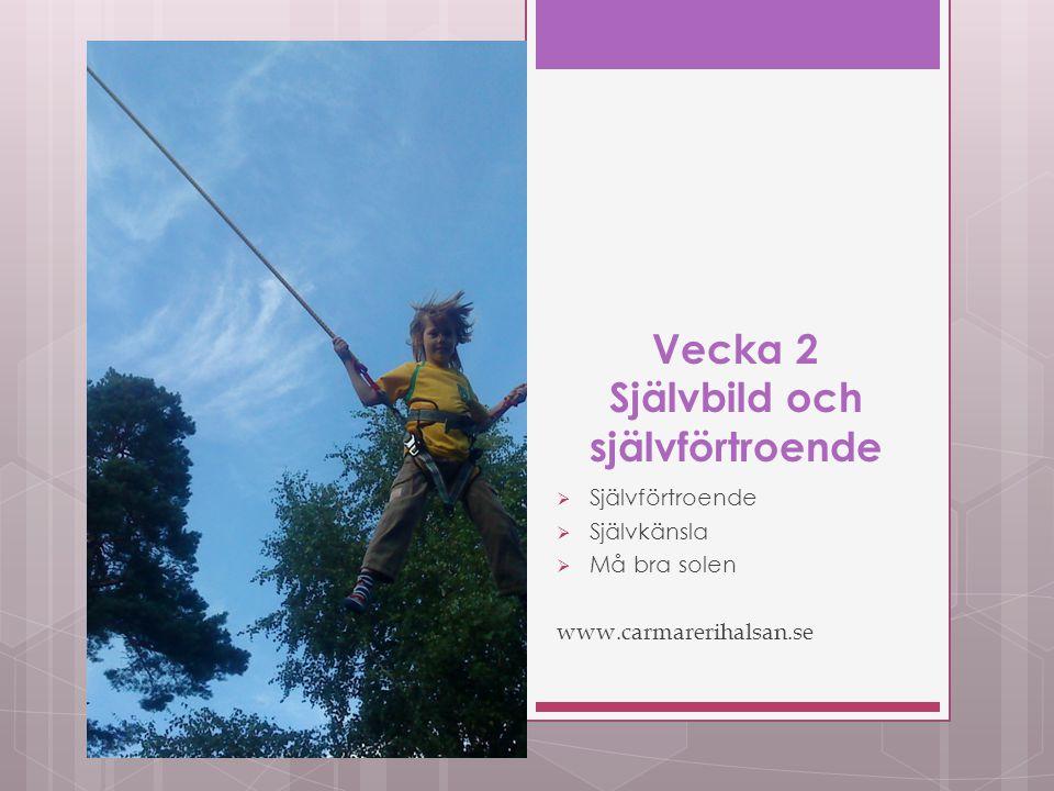 Vecka 2 Självbild och självförtroende