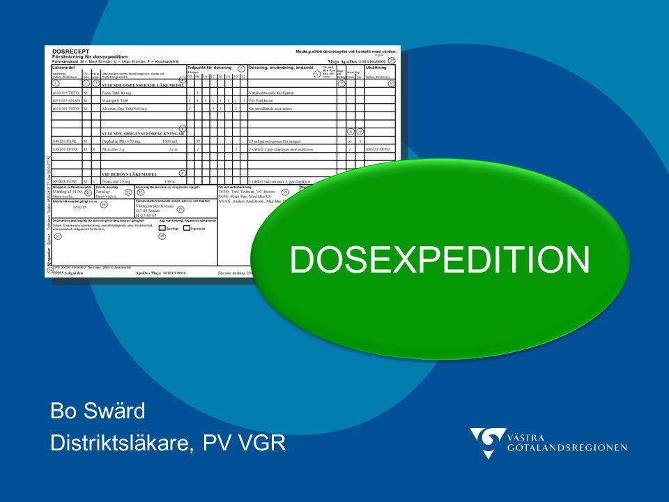 Bo Swärd Distriktsläkare, PV VGR
