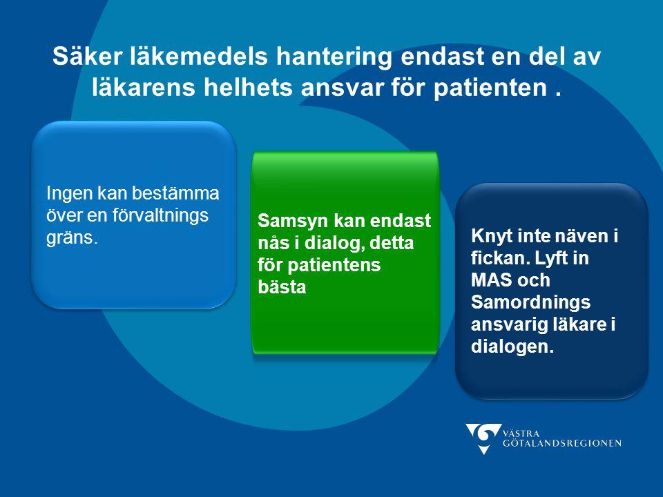 Säker läkemedels hantering endast en del av läkarens helhets ansvar för patienten .