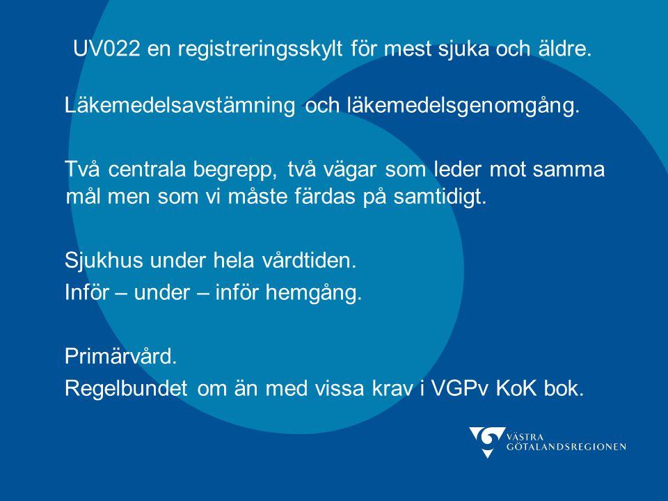 UV022 en registreringsskylt för mest sjuka och äldre.
