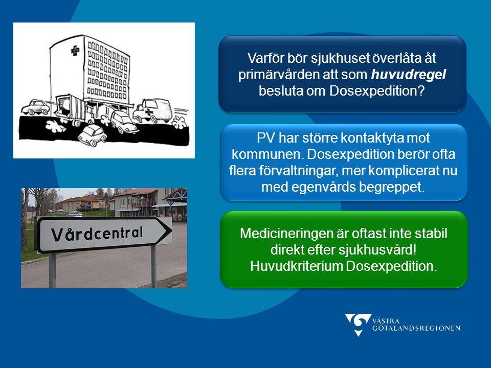 Varför bör sjukhuset överlåta åt primärvården att som huvudregel besluta om Dosexpedition