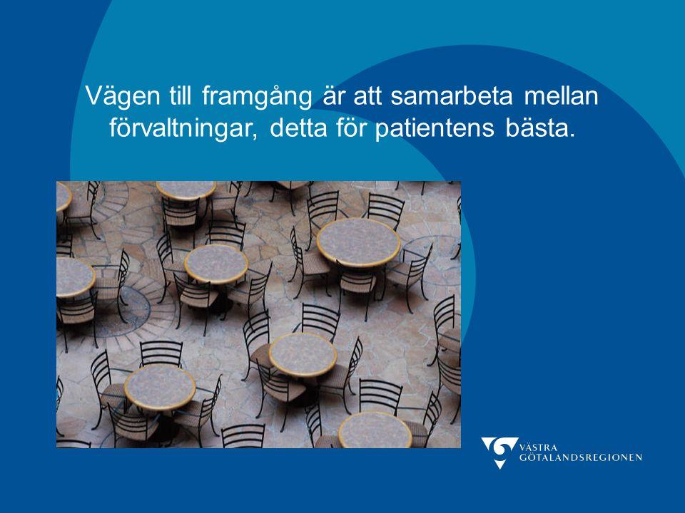 Vägen till framgång är att samarbeta mellan förvaltningar, detta för patientens bästa.