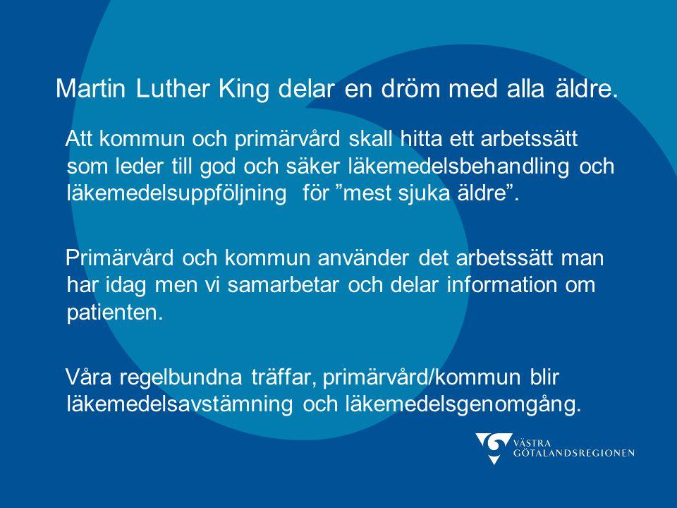 Martin Luther King delar en dröm med alla äldre.