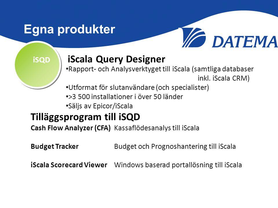 Egna produkter Tilläggsprogram till iSQD iSQD iScala Query Designer