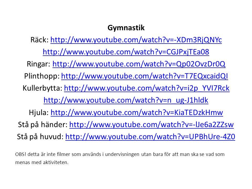 Räck: http://www.youtube.com/watch v=-XDm3RjQNYc