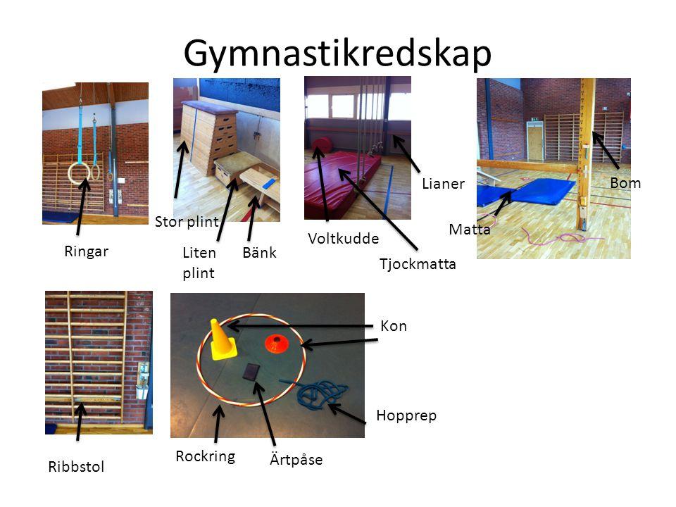 Gymnastikredskap Lianer Bom Stor plint Matta Voltkudde Ringar