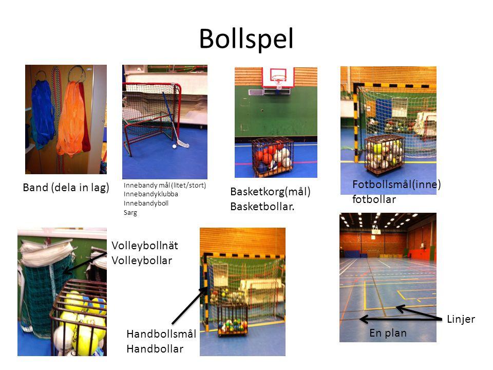 Bollspel Fotbollsmål(inne) fotbollar Band (dela in lag)