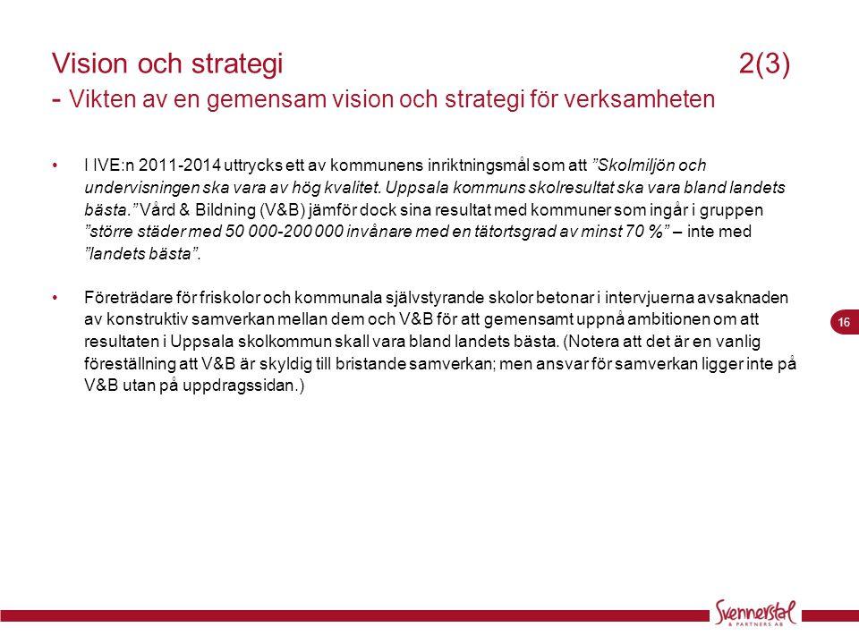 Vision och strategi 2(3) - Vikten av en gemensam vision och strategi för verksamheten