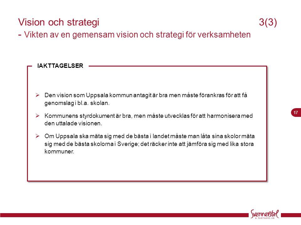 Vision och strategi 3(3) - Vikten av en gemensam vision och strategi för verksamheten