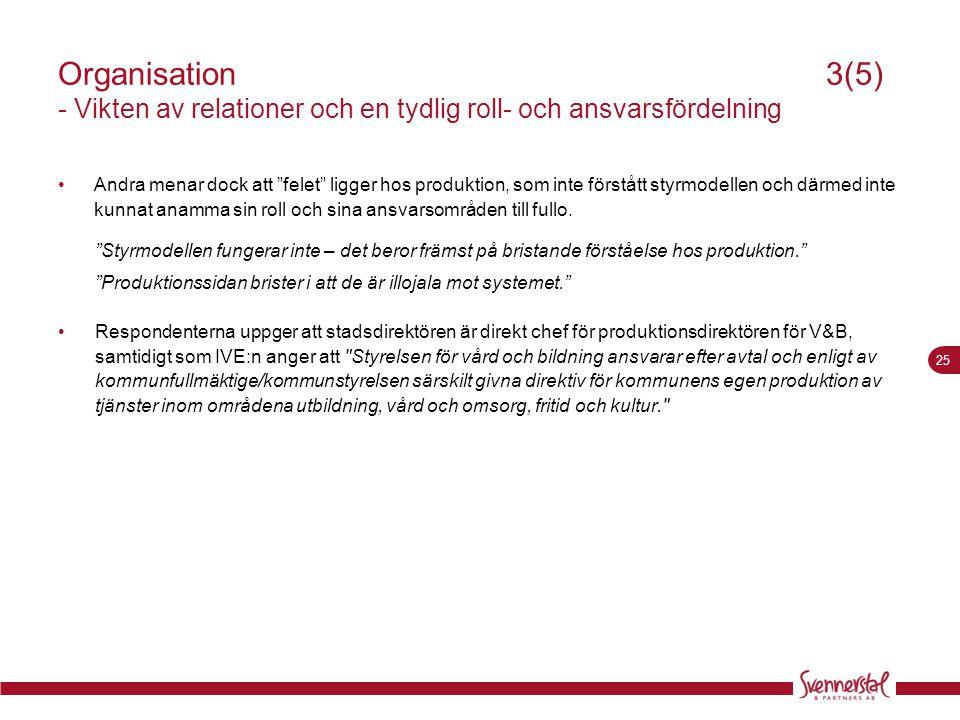 Organisation 3(5) - Vikten av relationer och en tydlig roll- och ansvarsfördelning