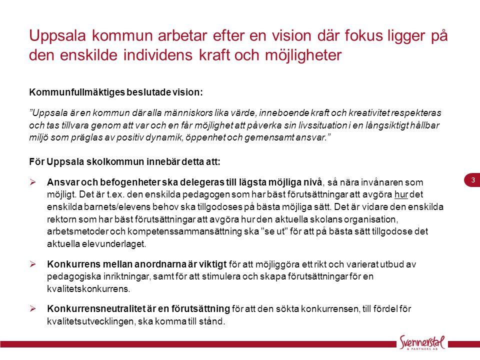 Uppsala kommun arbetar efter en vision där fokus ligger på den enskilde individens kraft och möjligheter