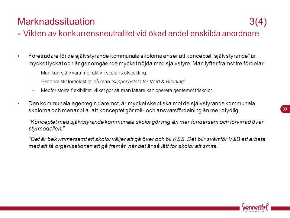 Marknadssituation 3(4) - Vikten av konkurrensneutralitet vid ökad andel enskilda anordnare