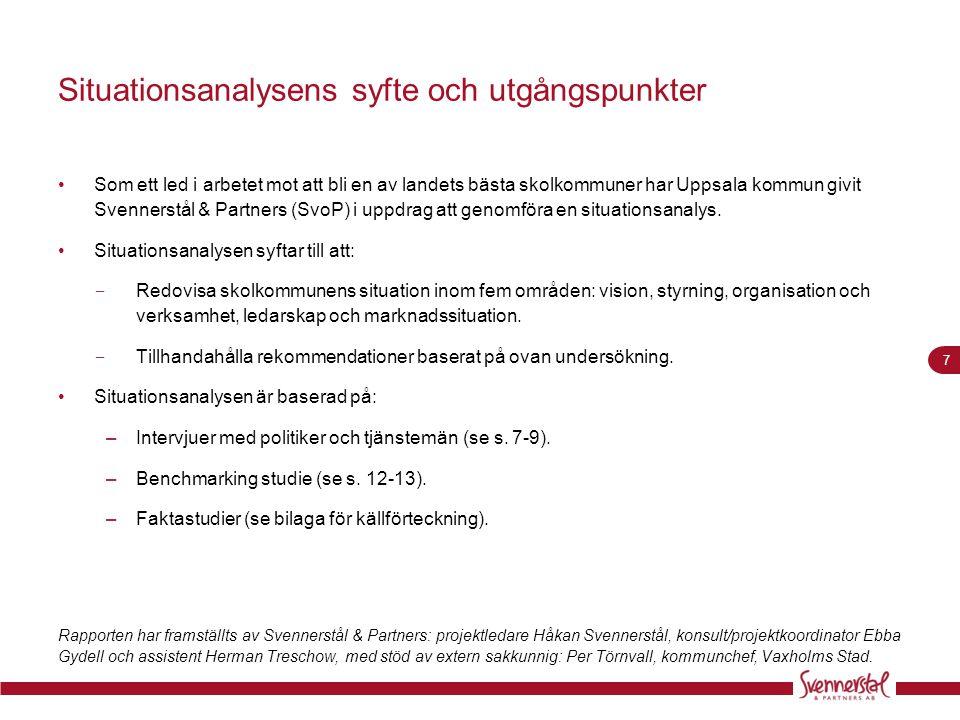 Situationsanalysens syfte och utgångspunkter