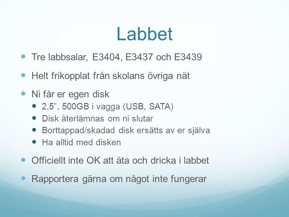 Labbet Tre labbsalar, E3404, E3437 och E3439