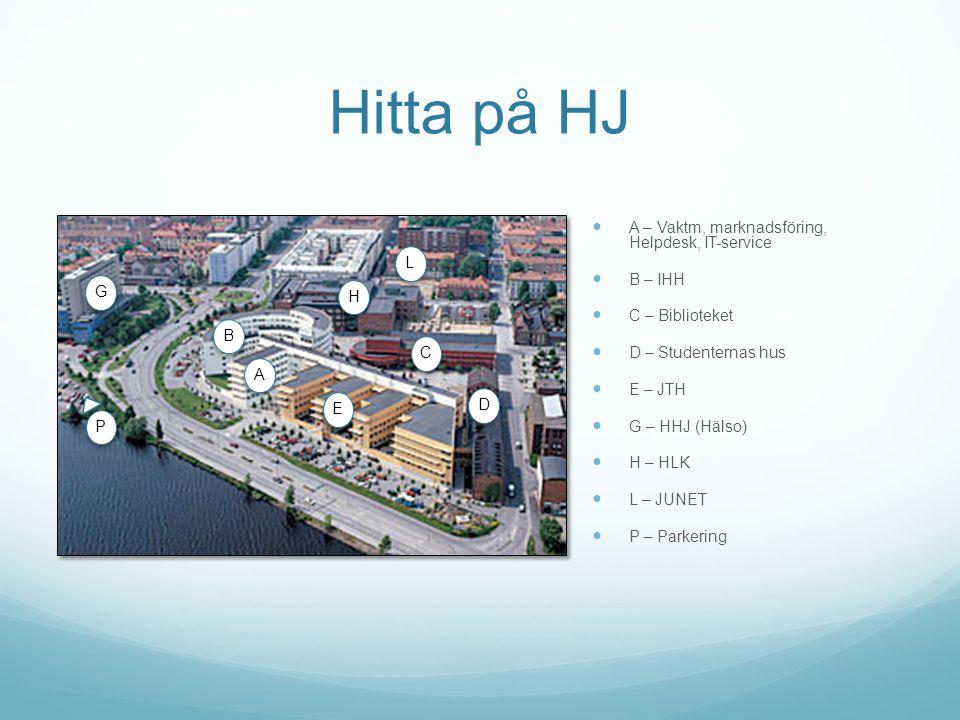 Hitta på HJ A – Vaktm, marknadsföring, Helpdesk, IT-service B – IHH L