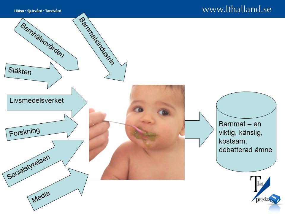 GAT Barnmatsindustrin Barnhälsovården Släkten Livsmedelsverket