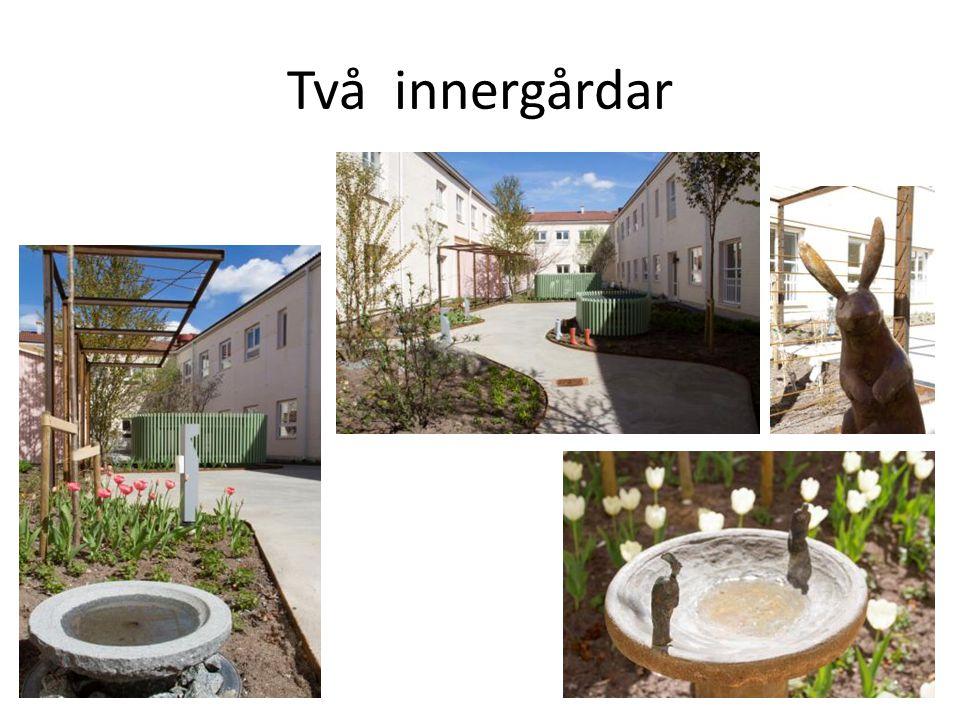 Två innergårdar