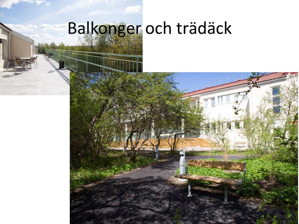 Balkonger och trädäck
