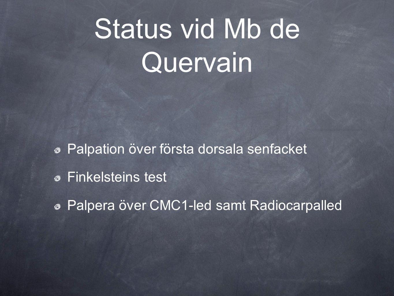 Status vid Mb de Quervain