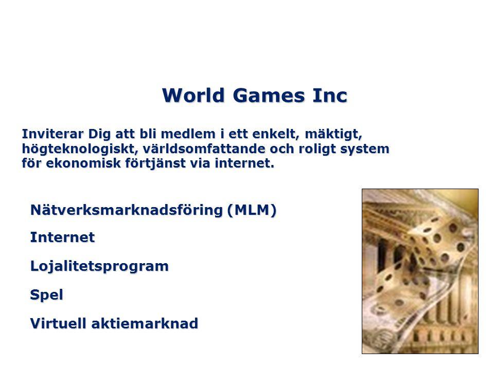 World Games Inc Nätverksmarknadsföring (MLM) Internet