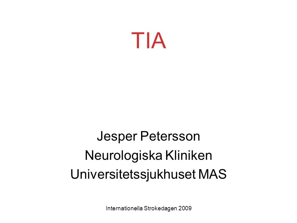 Jesper Petersson Neurologiska Kliniken Universitetssjukhuset MAS