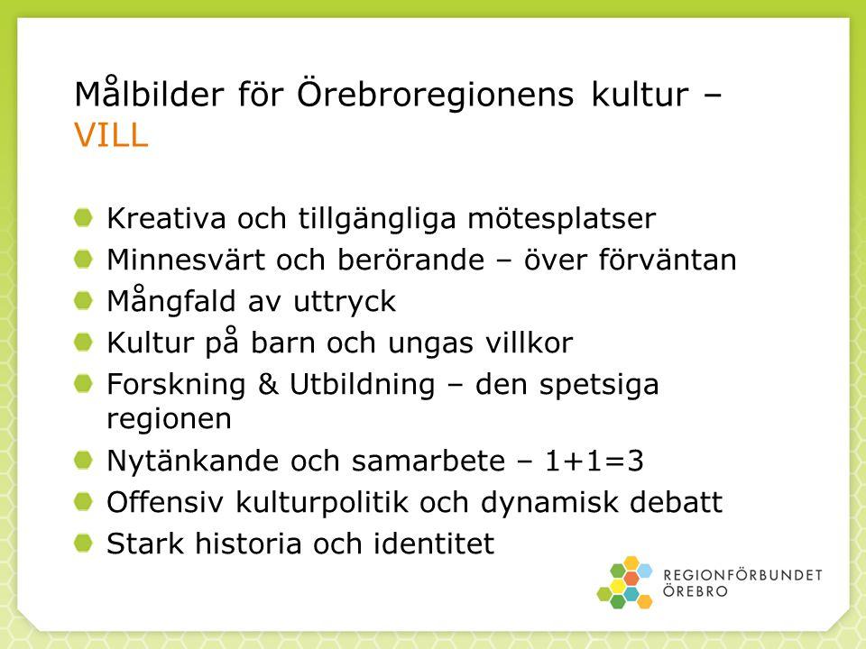 Målbilder för Örebroregionens kultur – VILL