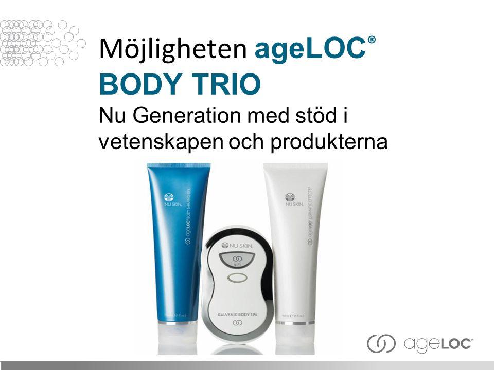 Möjligheten ageLOC® BODY TRIO Nu Generation med stöd i vetenskapen och produkterna