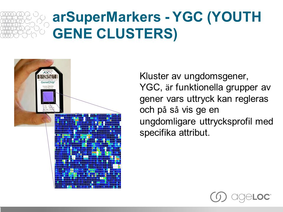 arSuperMarkers - YGC (YOUTH GENE CLUSTERS)