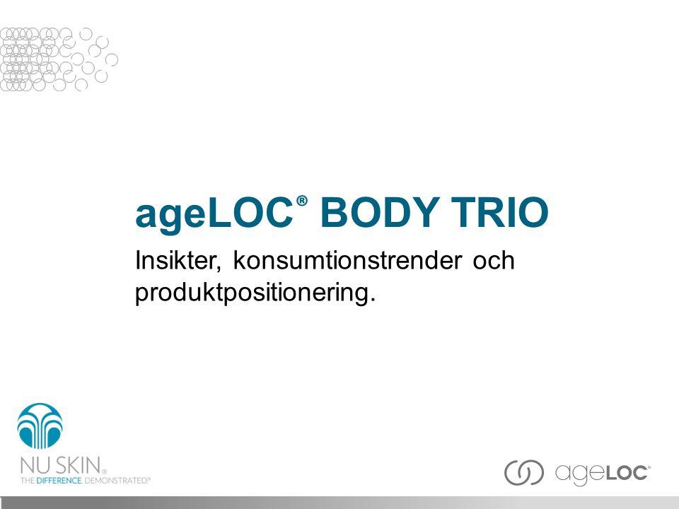 ageLOC® BODY TRIO Insikter, konsumtionstrender och produktpositionering. Title slide 3