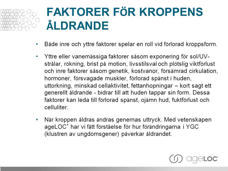 FAKTORER FÖR KROPPENS ÅLDRANDE