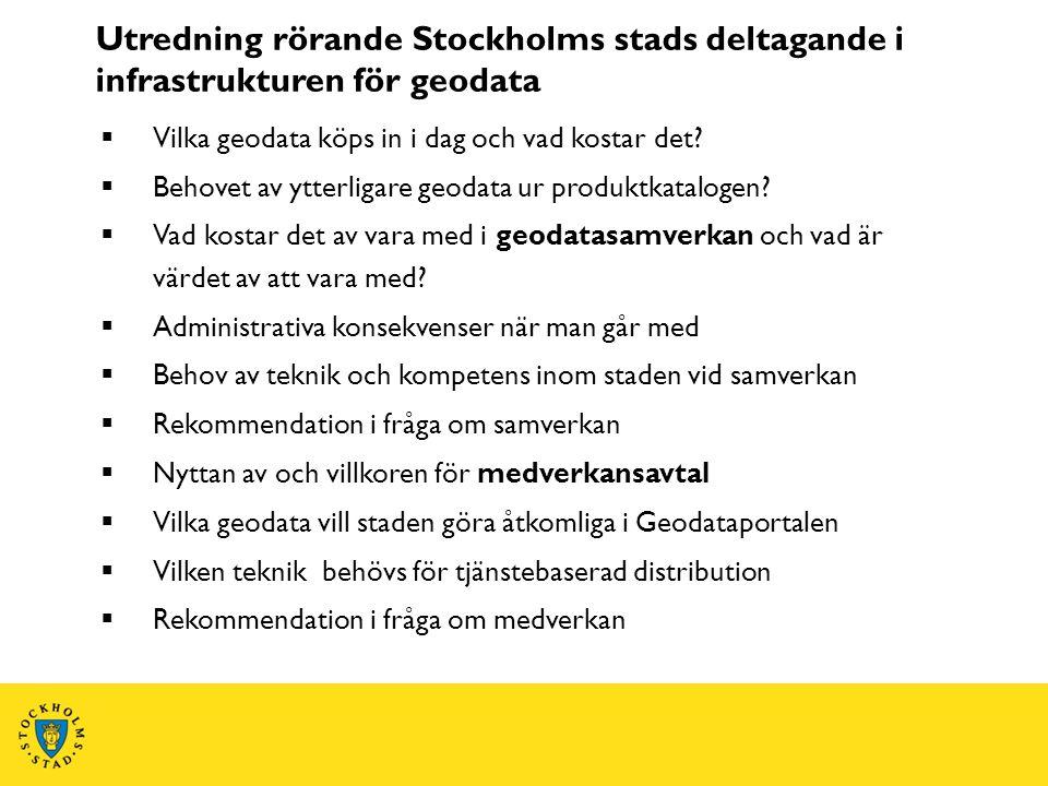 Utredning rörande Stockholms stads deltagande i infrastrukturen för geodata