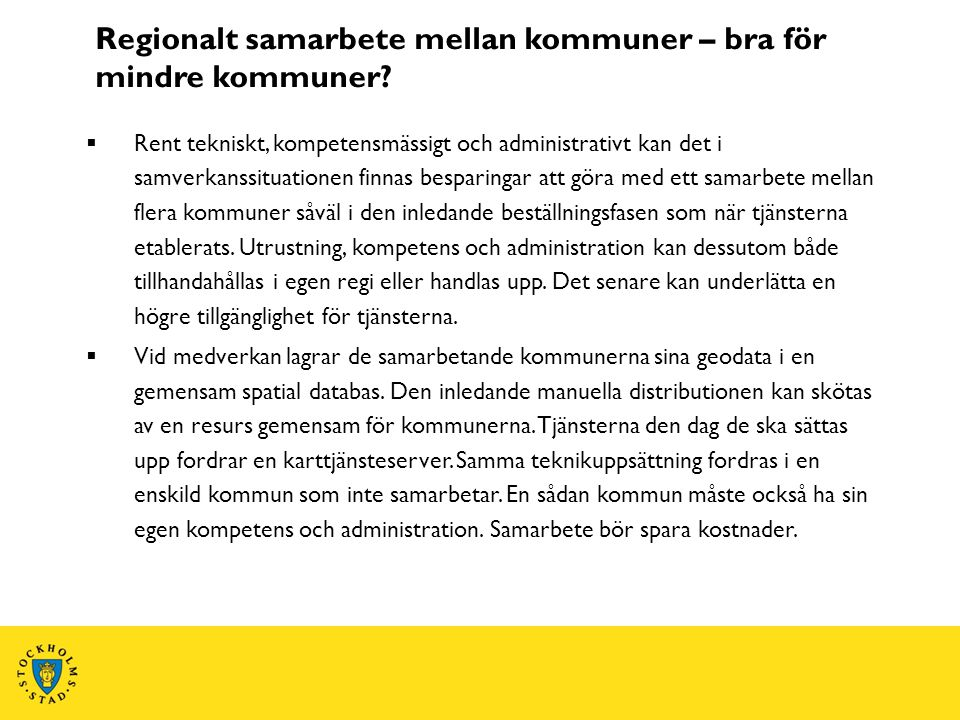Regionalt samarbete mellan kommuner – bra för mindre kommuner
