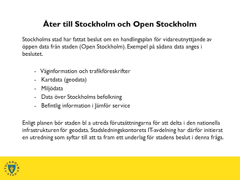 Åter till Stockholm och Open Stockholm