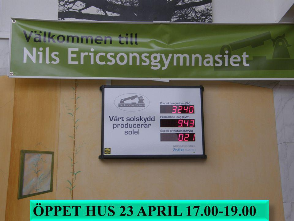 ÖPPET HUS 23 APRIL 17.00-19.00